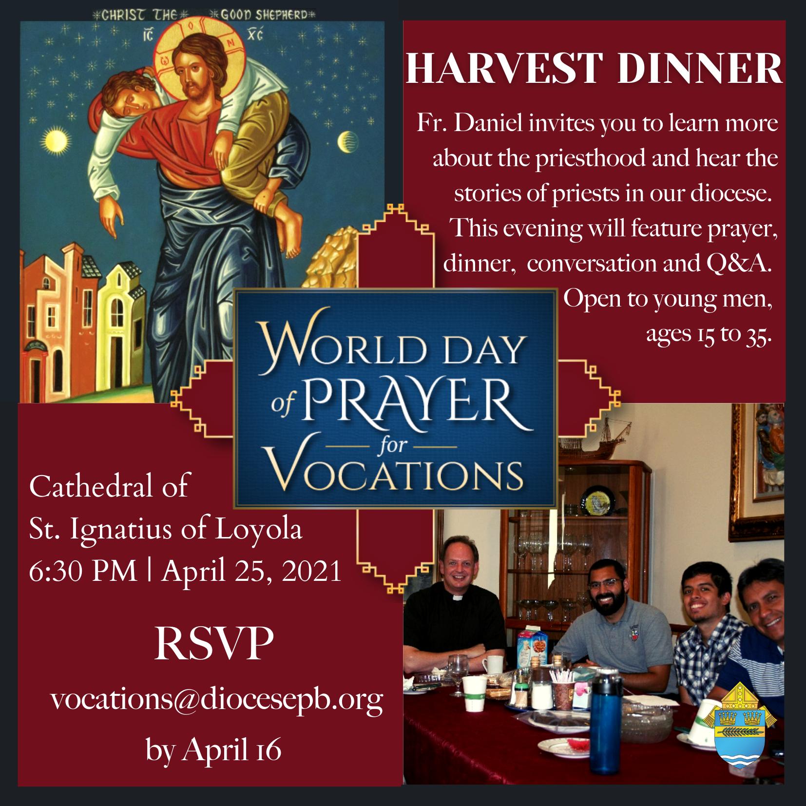 World Day of Prayer for Vocations Harvest Dinner