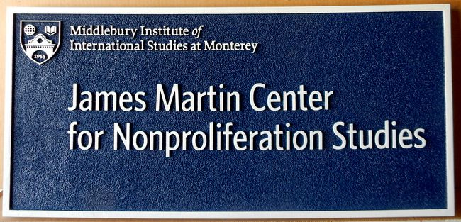 M1153 - Sandblasted Building Sign for  Middlebury Institute in Monterrey, CA (Gallery 15A)