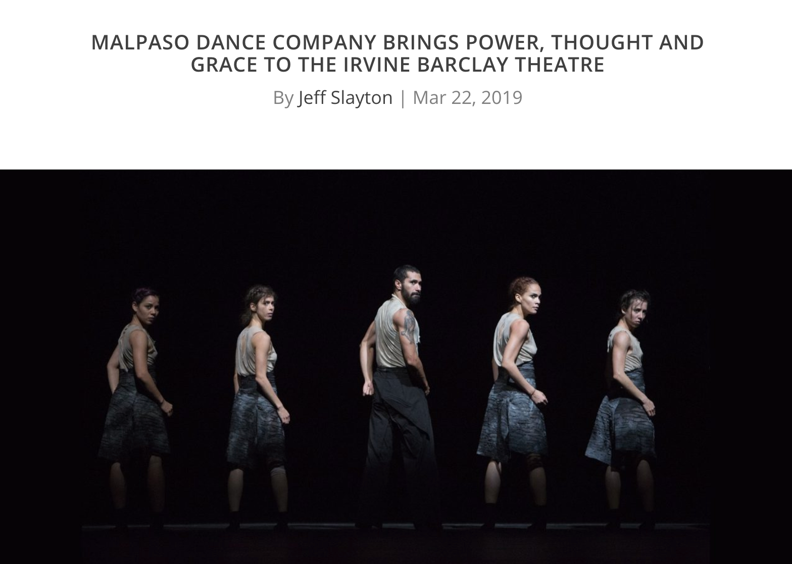 Malpaso Dance Company Brings Power, Thought, and Grace to the Irvine Barclay Theatre