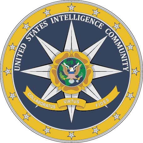 IP-1360 -  Carved Plaque of the Seal of the Office of the US Intelligence Community, Artist Painted