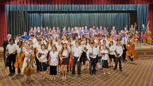 East End String Students to Rehearse in Open Orchestra Rehearsal Under the Baton of Maestro Itzhak Perlman (posted July 15, 2016)