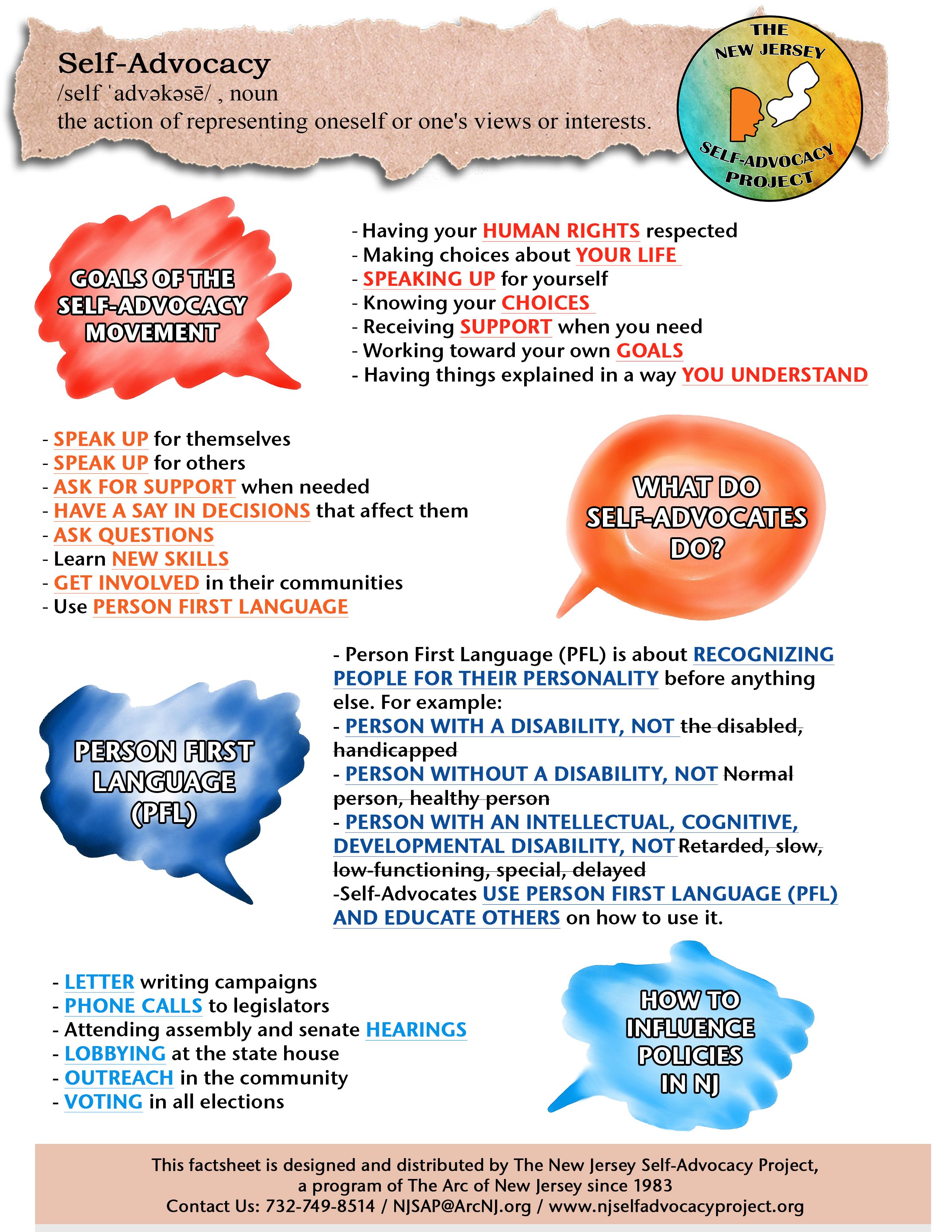 Self-Advocacy Factsheet