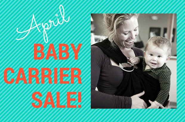 April Baby Carrier Sale!