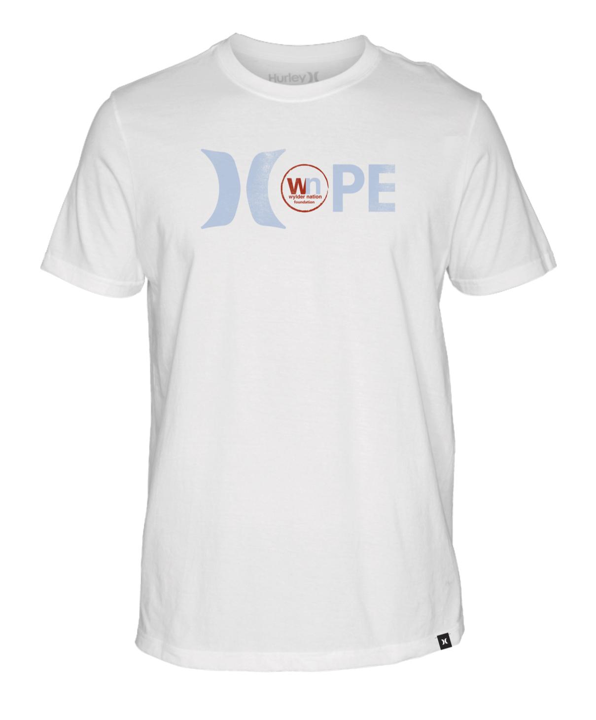 WN/Hurley Hope White Unisex Premium Dri-Fit T-Shirt