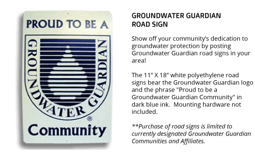 Groundwater Guardian Road Sign