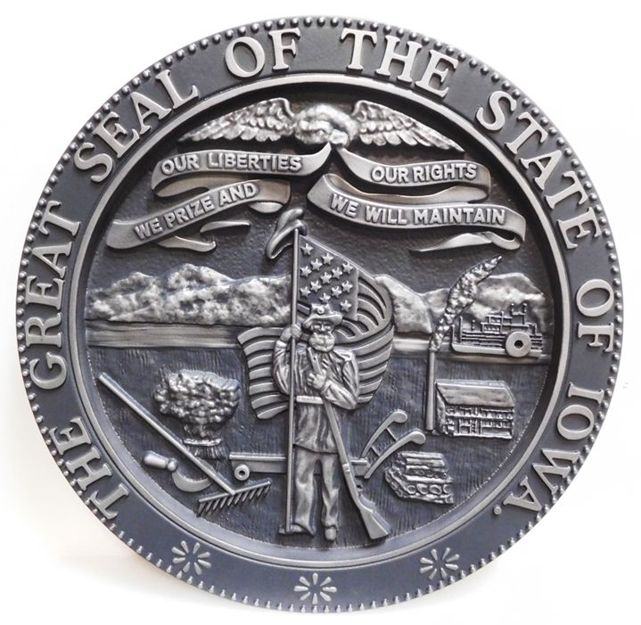 MD4110 - Great Seal of the State of Iowa, 3-D