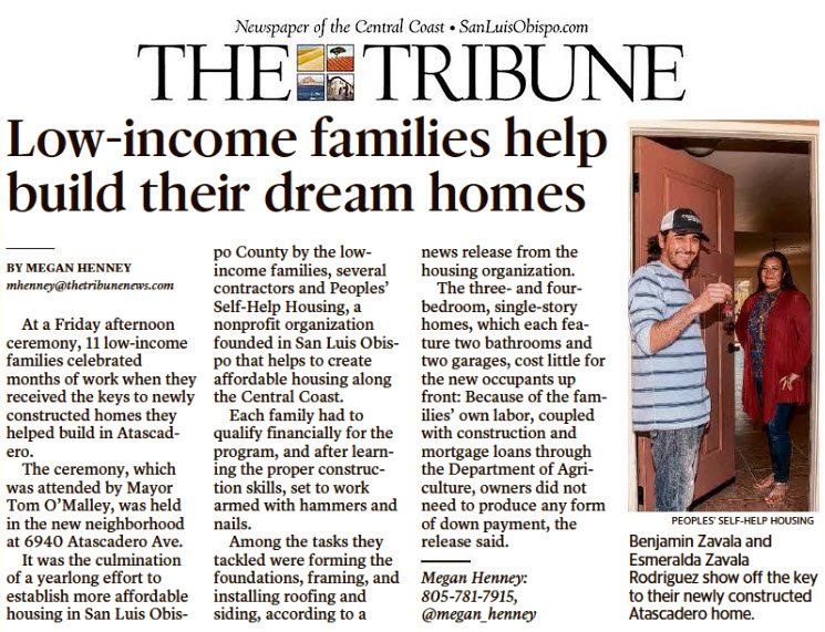 Low-income families help build their dream homes - The Tribune