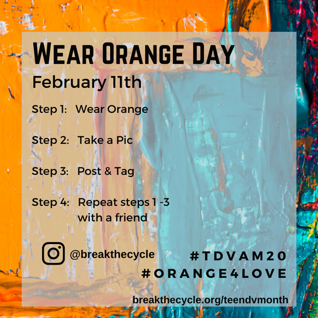 Wear ORANGE for Teen Dating Violence Awareness Day