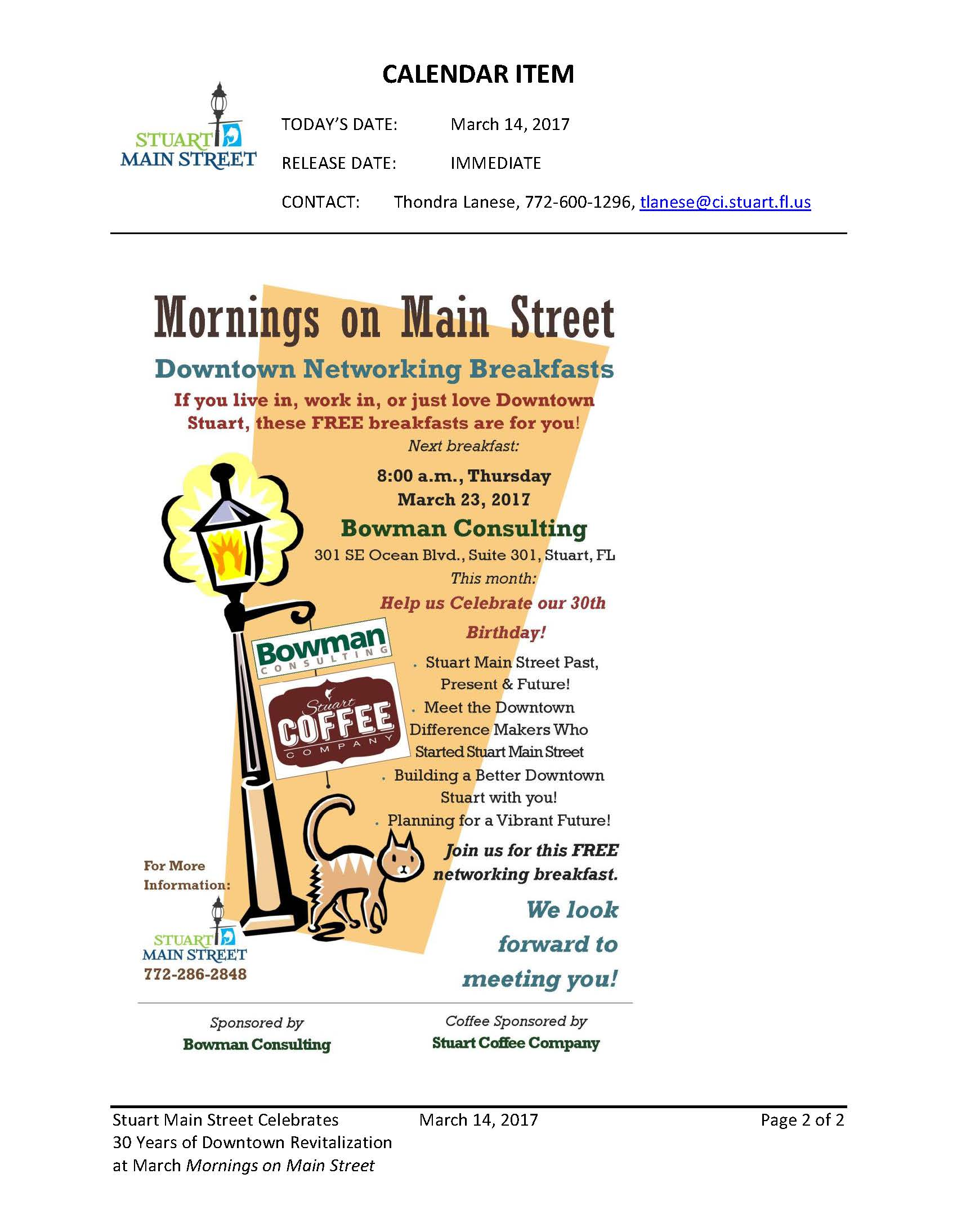 Mornings on Main Street