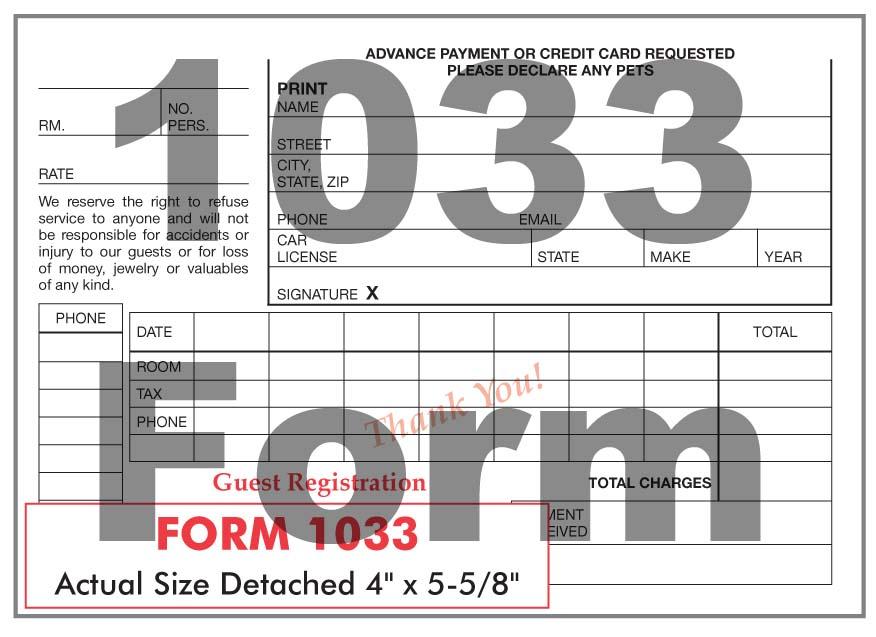 1033 Form