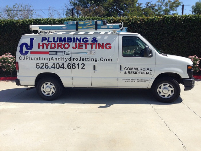Cj Plumbing Promotes Hydro Jetting Services With Ford Van