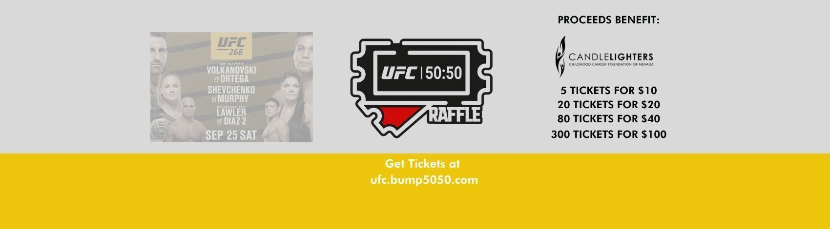 UFC 50:50 Raffle
