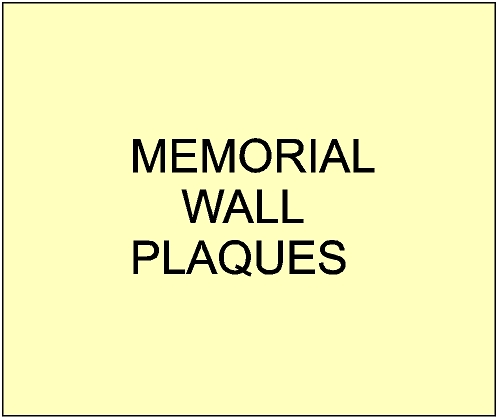 GC16950 - Memorial Wall Signs and Plaques