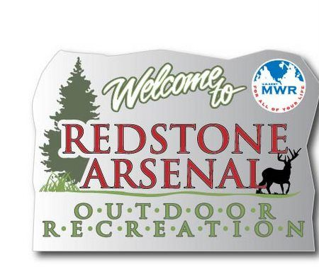 G16237 - Redstone Arsenal Outdoor Recreational Area Carved Wood Sign