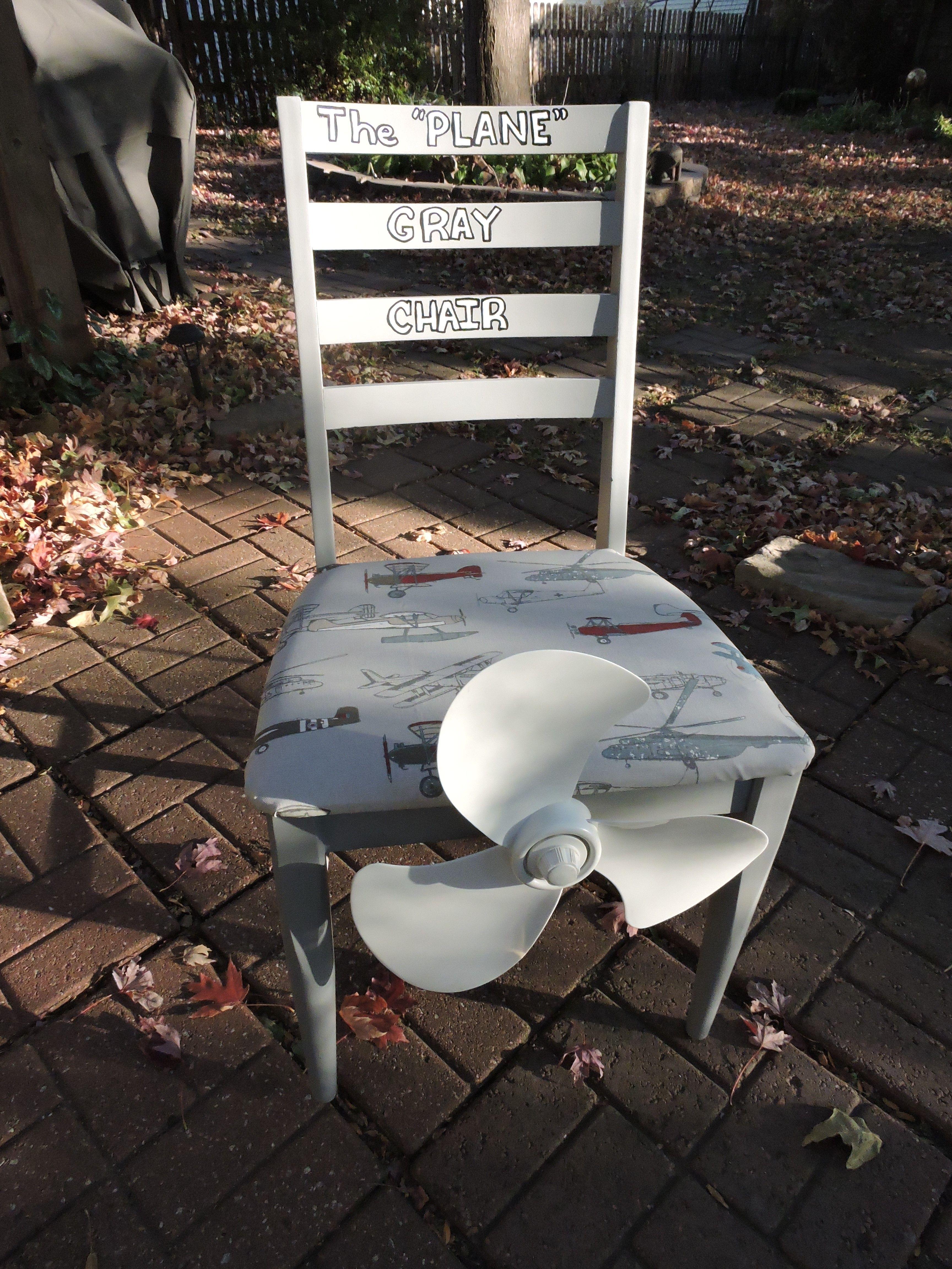 Plane Gray Chair by Cyndi Dwyer