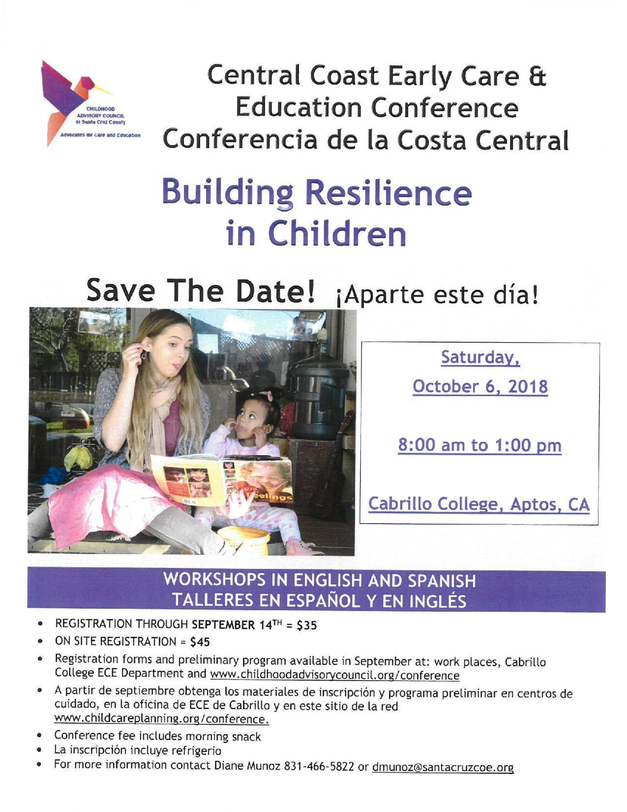 Save the Date! Building Resilience in Children