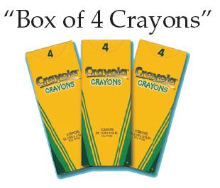 Crayola-Crayons-4 Pack (Bundle of 24 Boxes)
