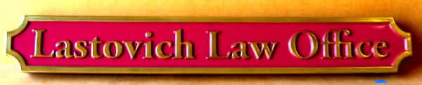 A10342 – Carved HDU Law Office Sign