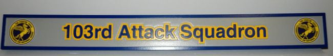 LP-2760 - Carved Identity  Sign for the 103rd Attack Squadron,  Artist Painted