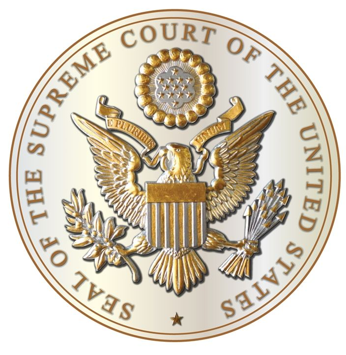 AP-2170 - Carved Plaque of the Great Seal of the US Supreme Court, Gold Leaf