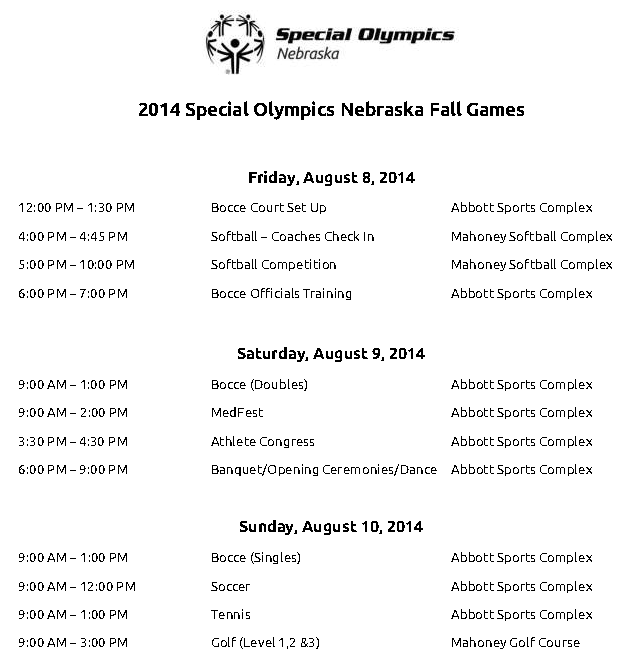 Fall Games Schedule is Here!