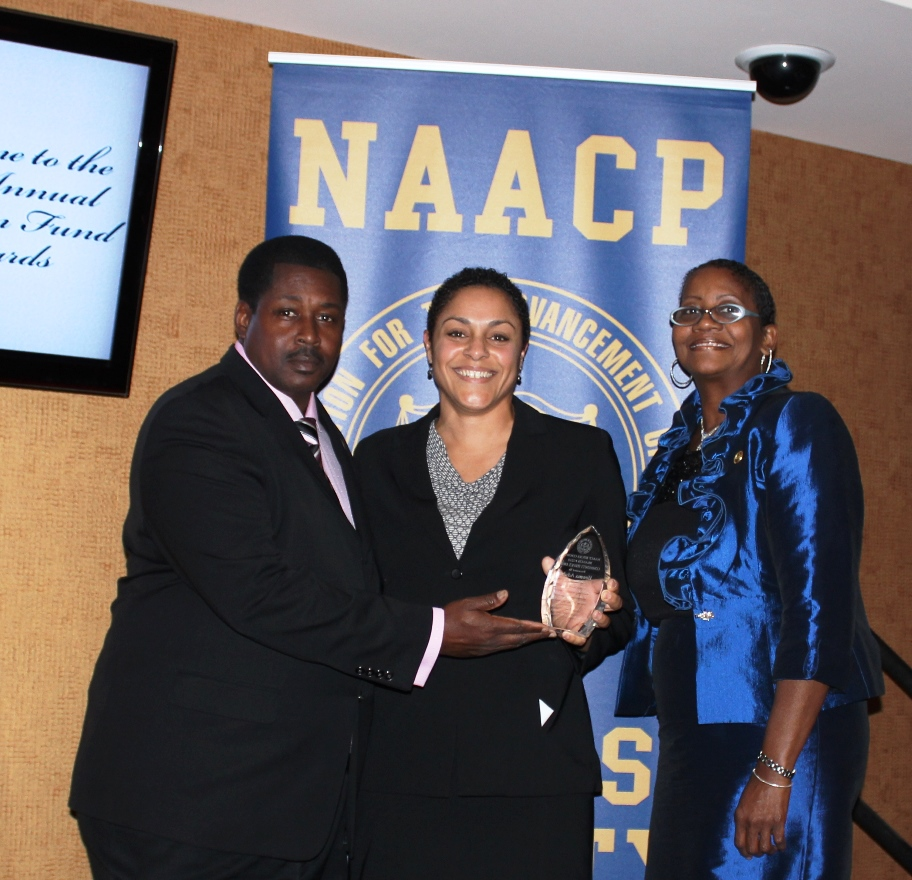 Executive Director Ifeoma Aduba receives Community Leadership Award from the Bucks County NAACP.