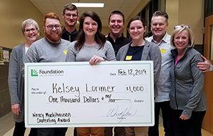 Kelsey Lorimer named 2019 Nancy Muehlhausen Counseling Award winner