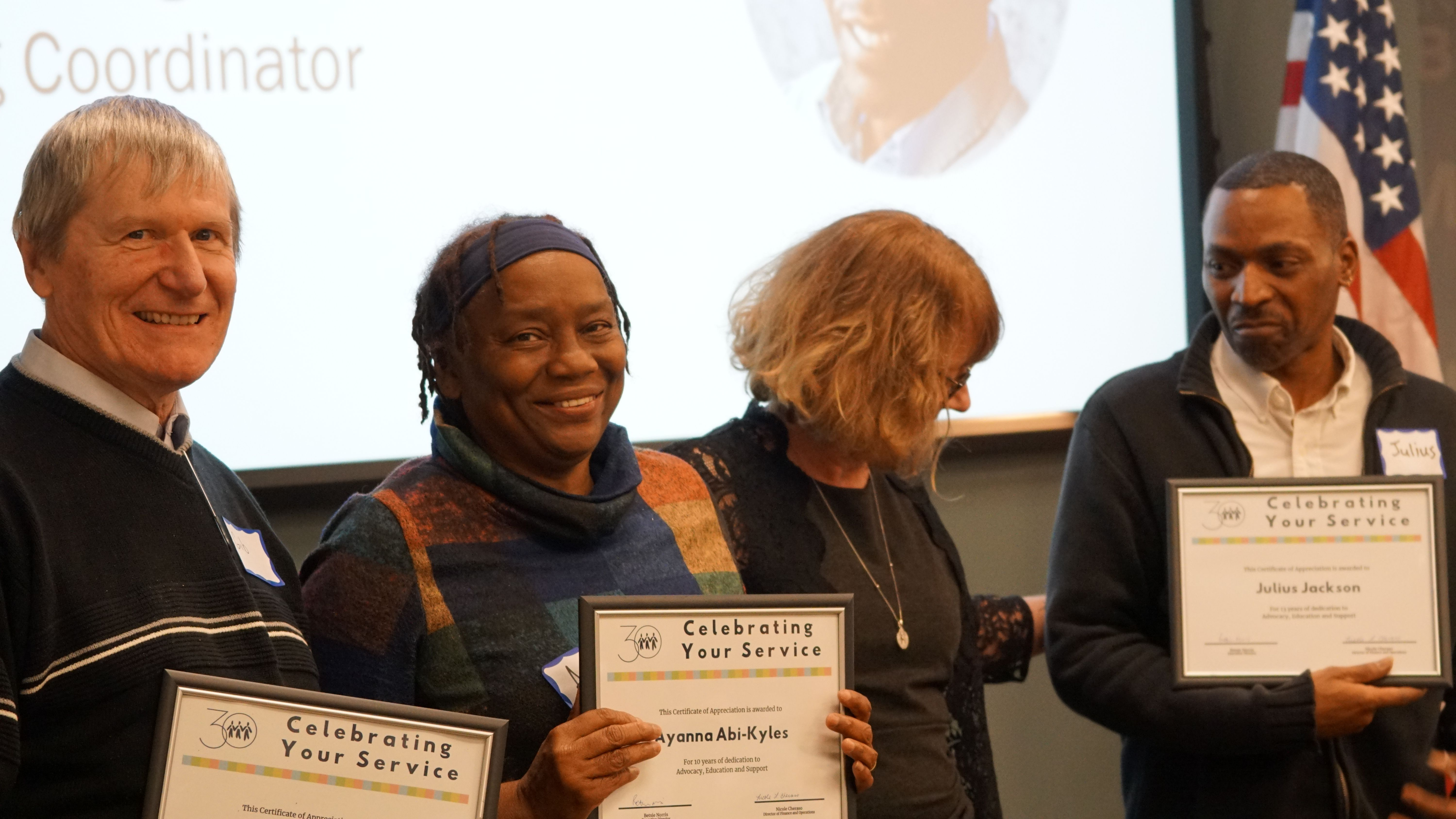 Three staff members honored for 10+ years of service