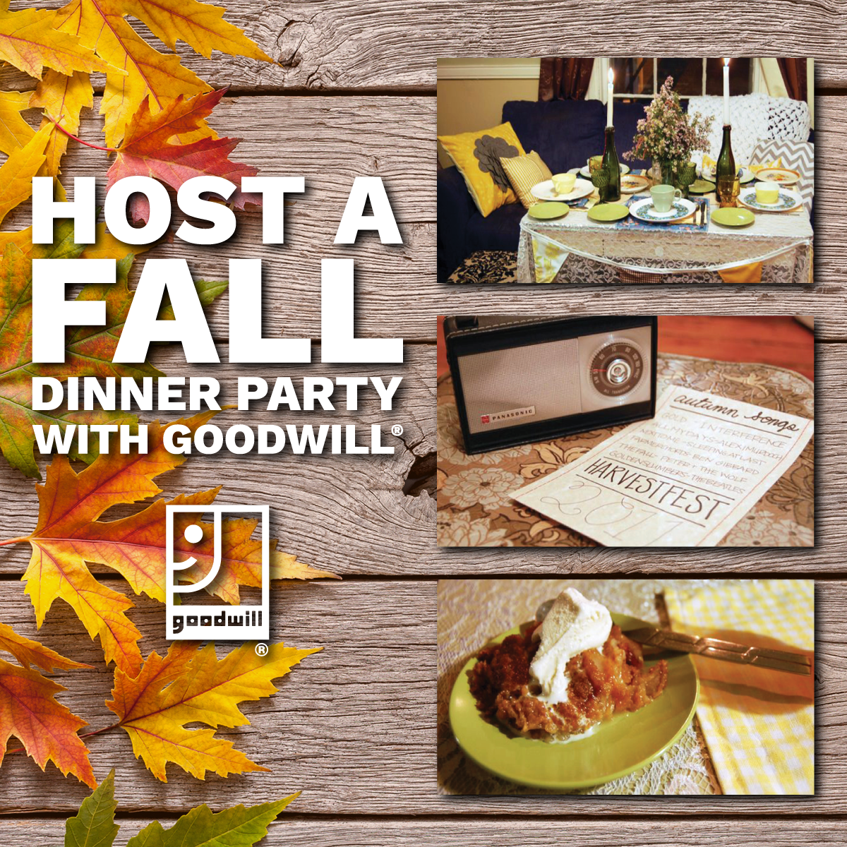Host a Fall Dinner Party with Goodwill!