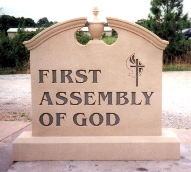 D13002 - Monument Sign for Entrance to First Assembly of God Church