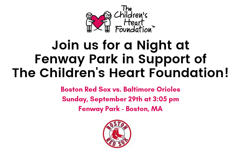 Night at Fenway Park with The Children's Heart Foundation (Massachusetts)