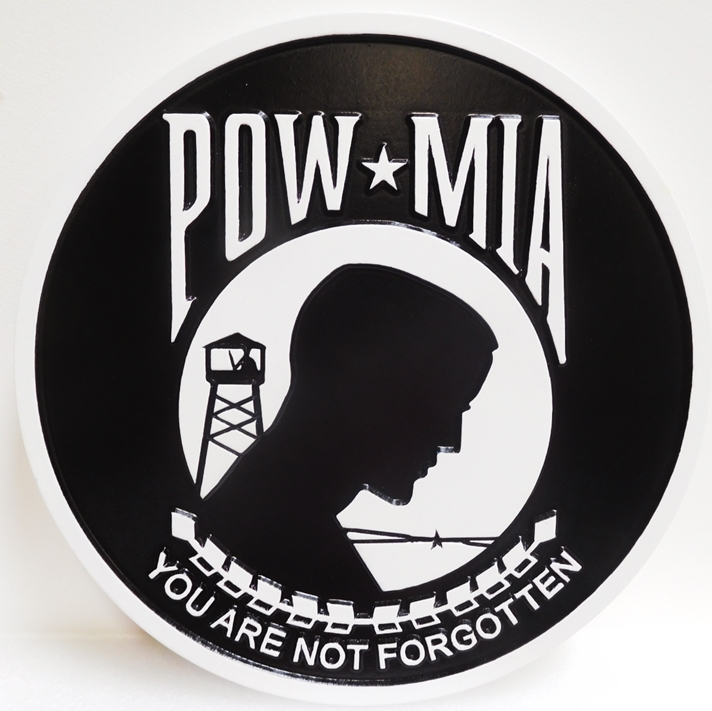 "IP-1970 - Plaque for POW-MIA's ""You are Not Forgotten"", Artist Painted"