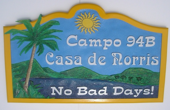 M2809 - Carved Mexican Vacation Home Sign