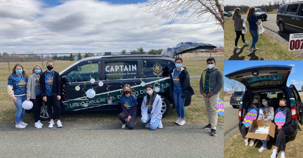 The CAPteens had so much fun at the Hippity Hoppity Easter Spectacular hosted by the Town of Halfmoon! They passed out candy and make-your-own craft and coloring sheets to all the children that drove by.