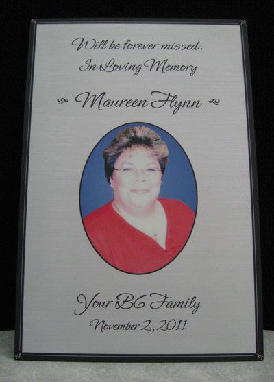 Engraved Plaque with Photo