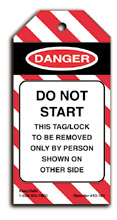 Do Not Start Lockout Tag