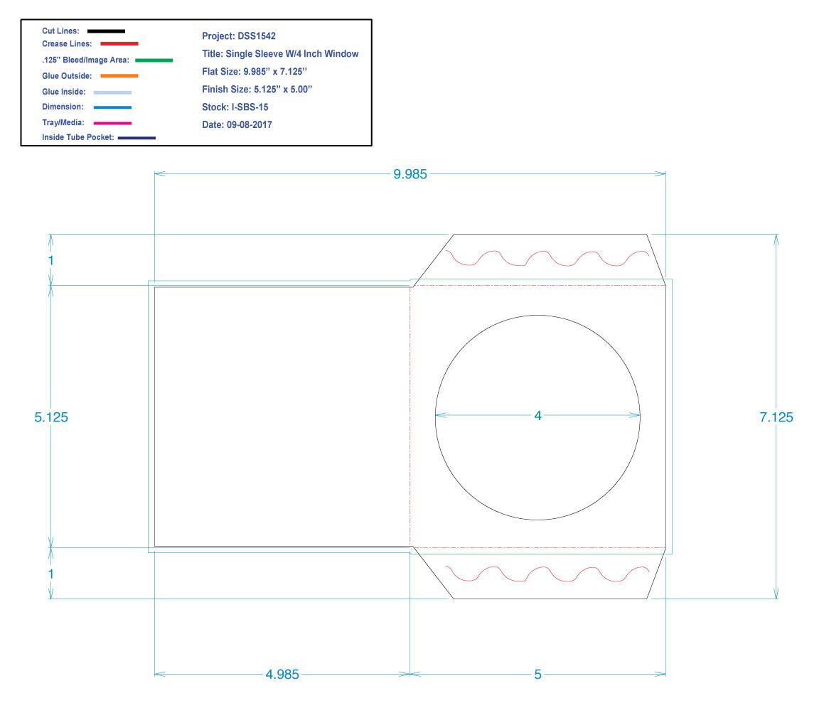 "DSS1542 CD Single Sleeve 5"" x 5.125"" With Hole"