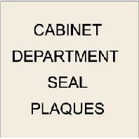 7. U30170 - US Cabinet Department Custom Carved 3-D Wooden Wall Plaques