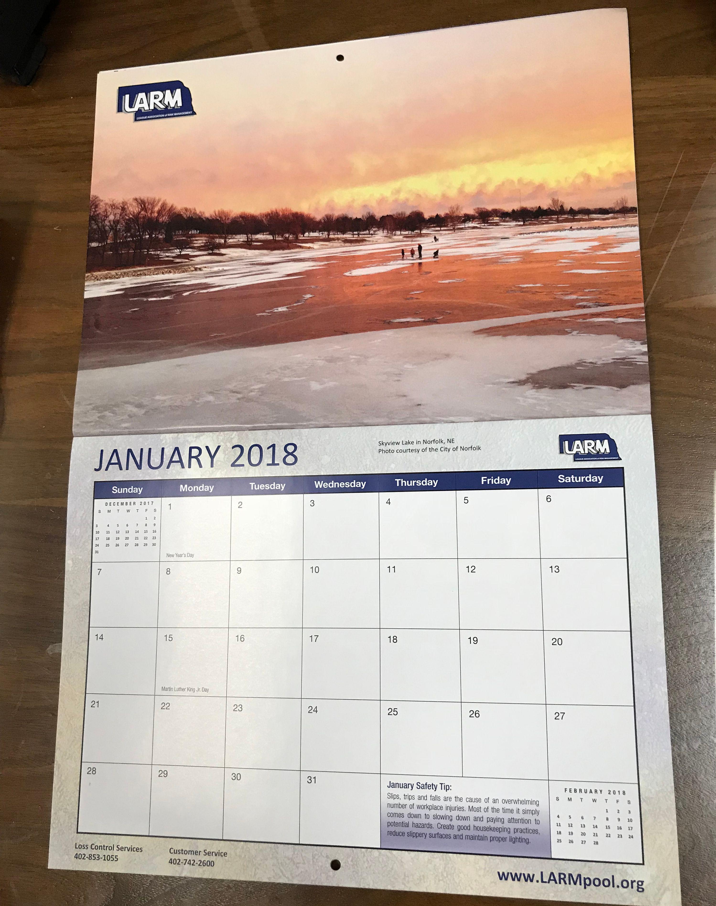 2018 LARM Calendars available