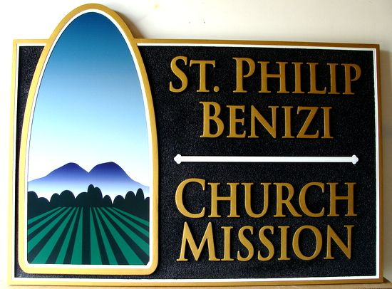 D13013 - Sandblasted HDU Church Mission Sign