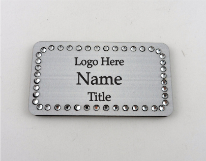 Rectangle Bling Name Badge