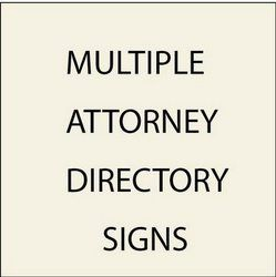 2. A10600 - Directory Signs for Multiple Attorneys (with Replaceable Nameplates)