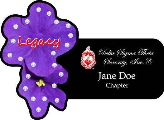 Delta Legacy Bling Name Badge