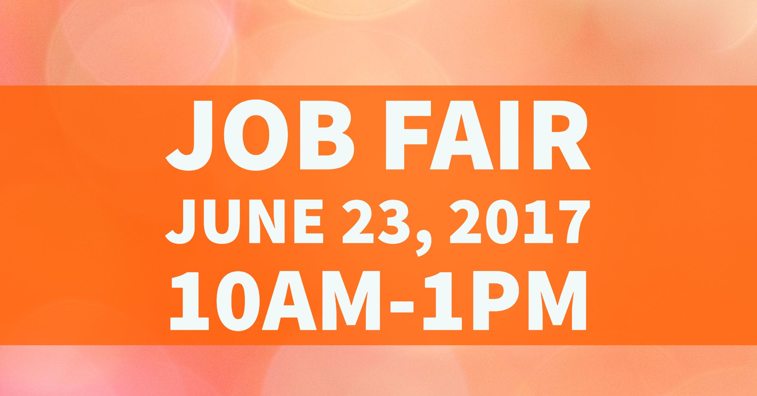 Join us for our Job Fair June 23!