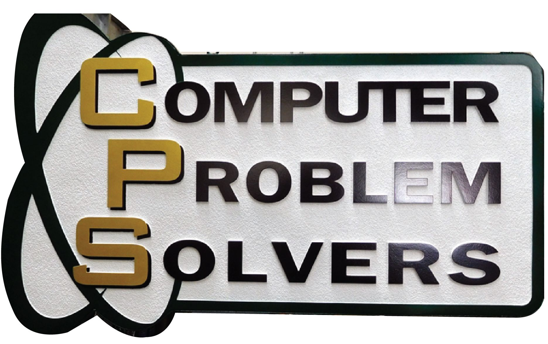 """S28091 - Carved HDU Sign Made  for the """"Computer Problem Solvers""""."""
