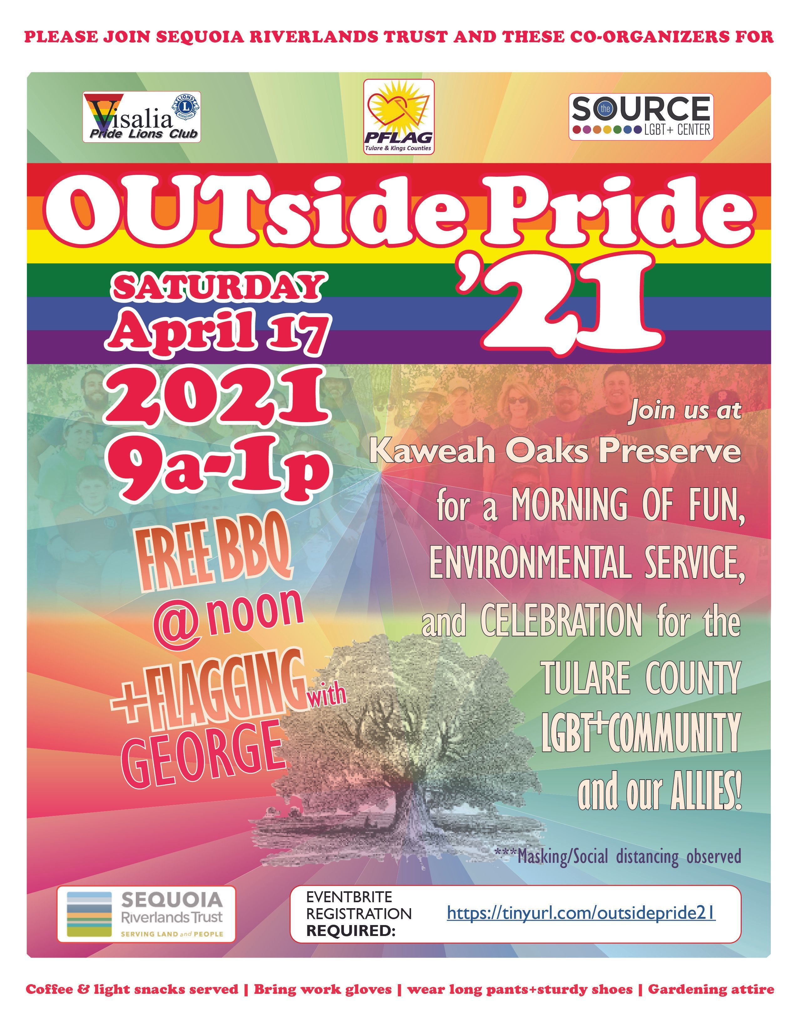 OUTside Pride returns to Kaweah Oaks Apr. 17 (see signup on flyer)