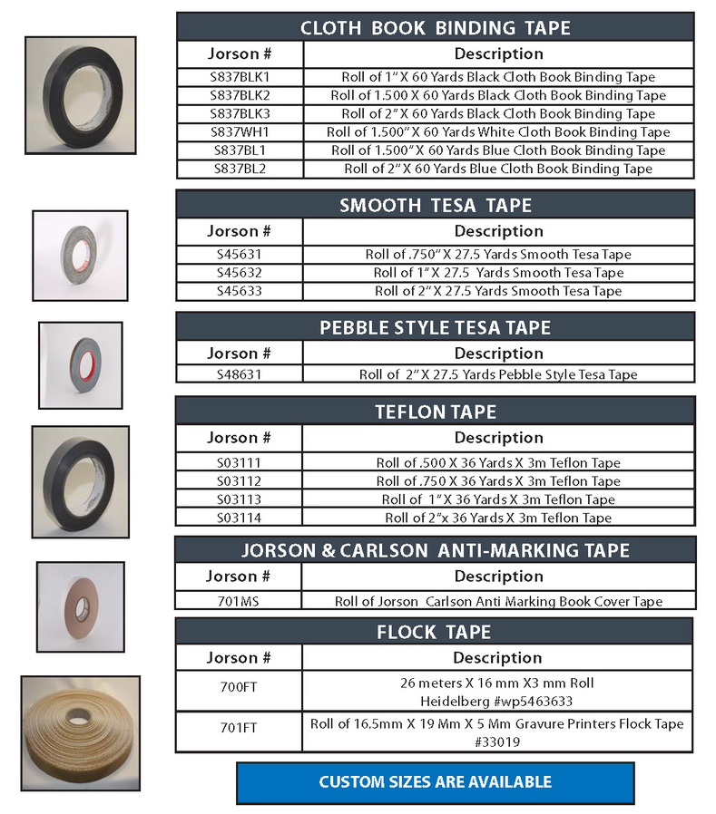 Bindery tape products