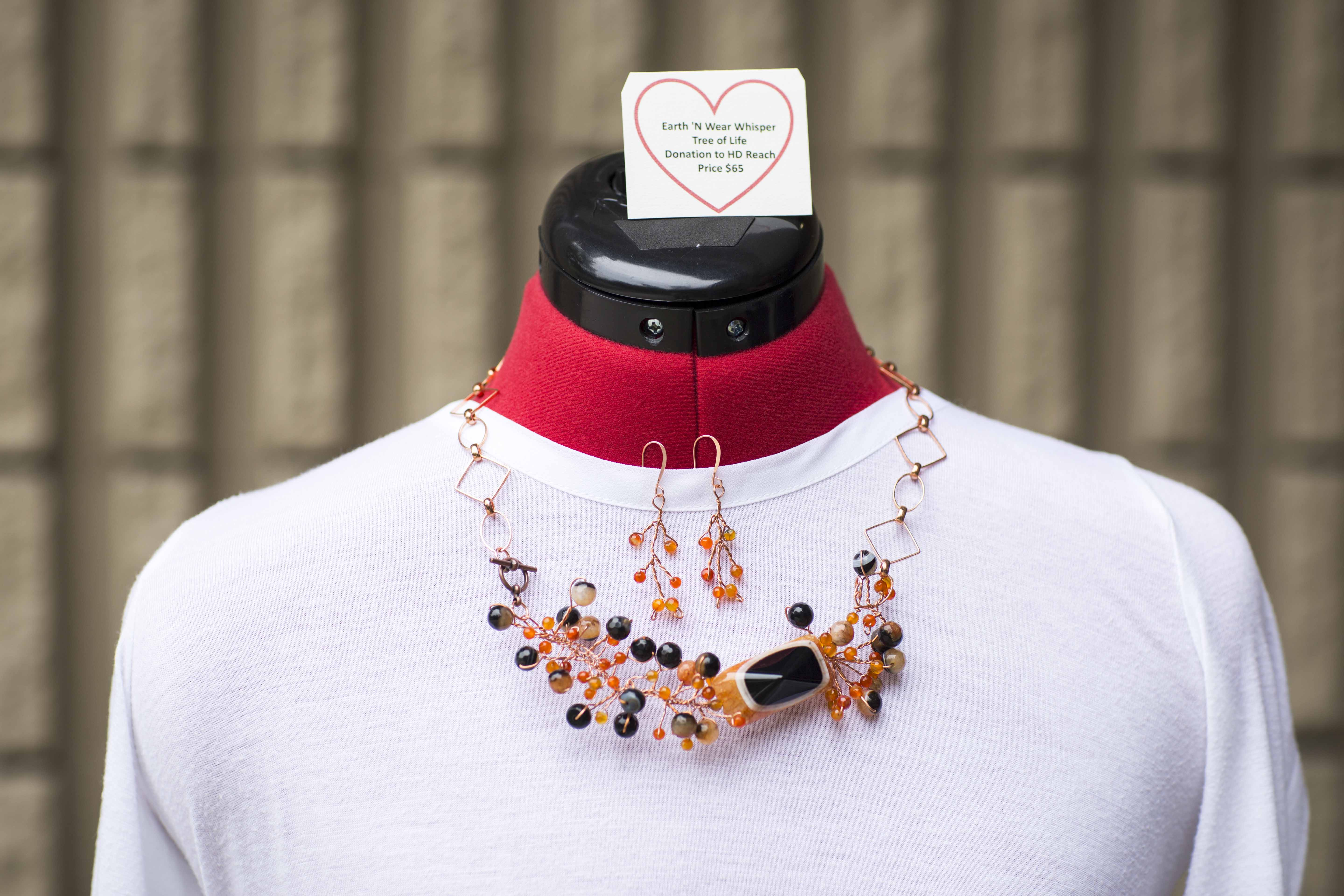 Earrings - Orange agates:  promote beauty,love, and confidence.