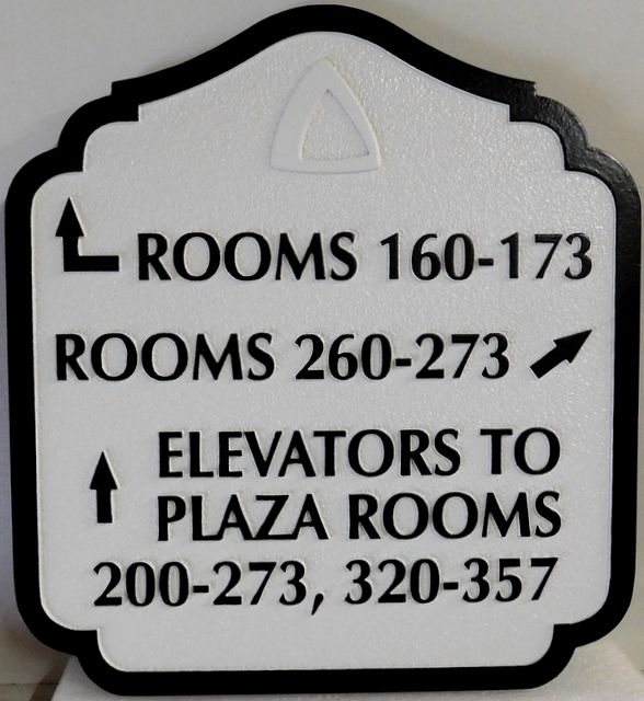 T29416B  - Carved and Sandblasted  HDU Wayfinding Resort Hotel Sign