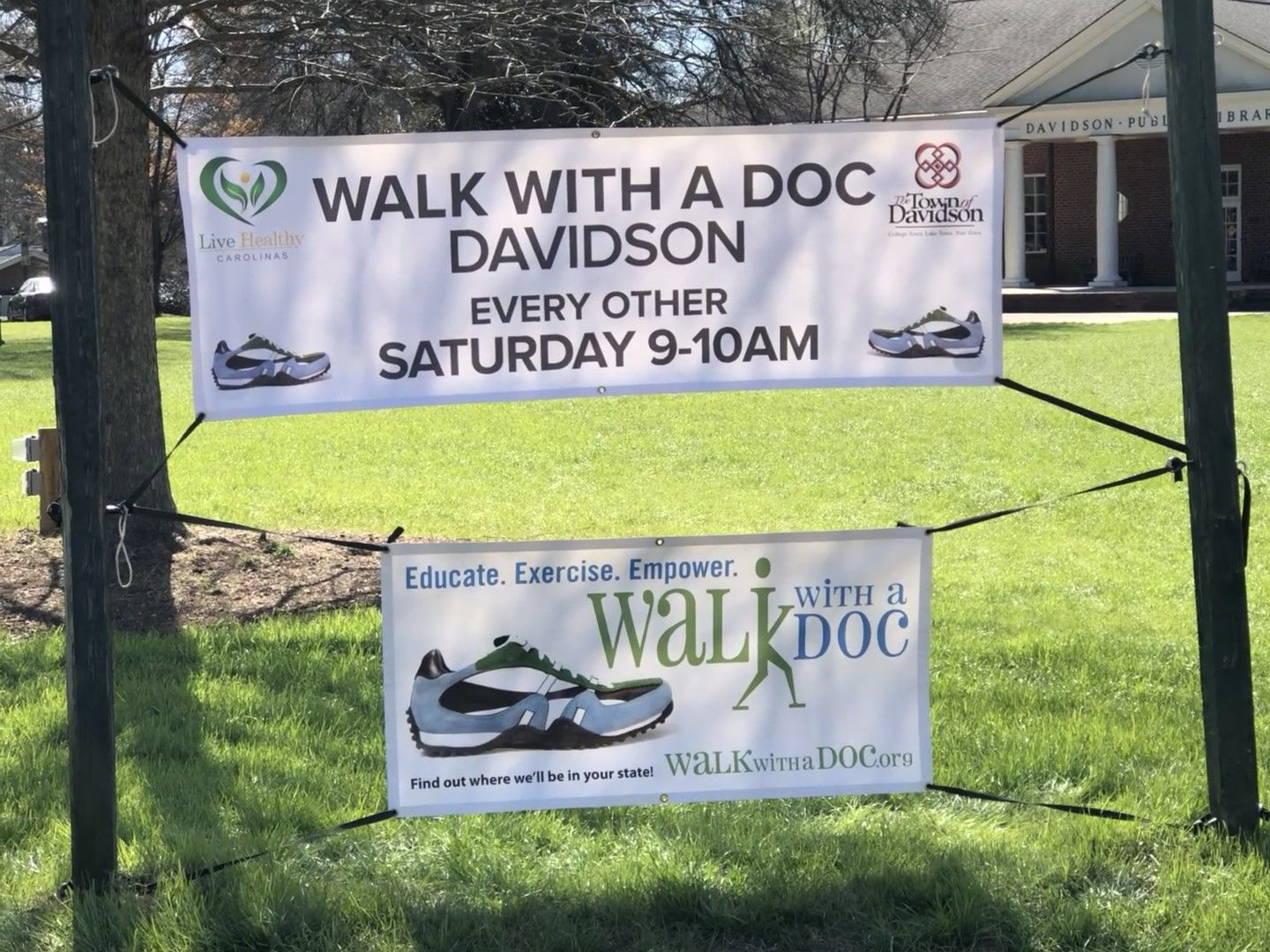 Inaugural Walk With A Doc - Davidson